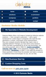 darkstar media mobile website